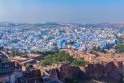Blauwe stad Jodhpur in India