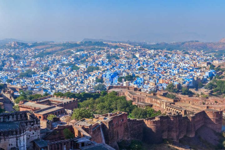 Blauwe stad Jodhpur in India