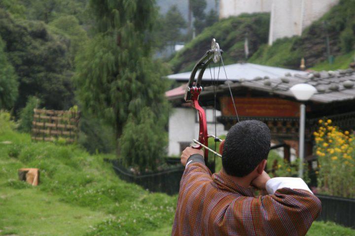 Boogschieten in Bhutan