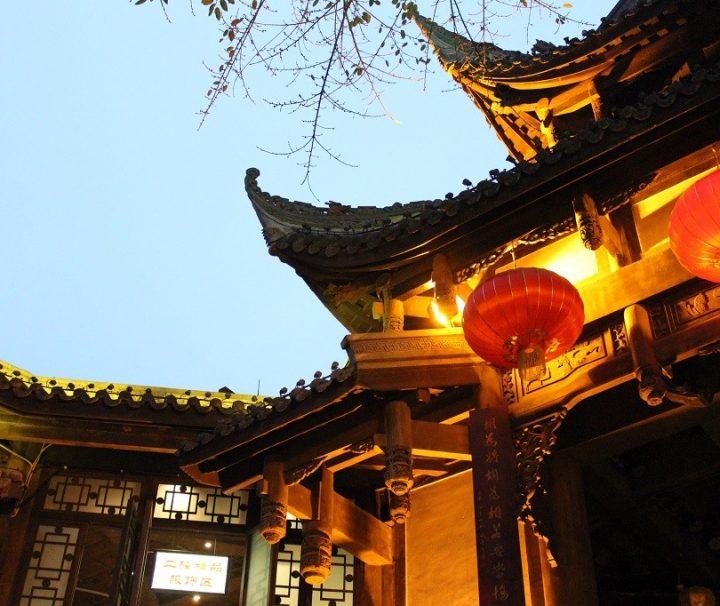 In de stad Chengdu in China