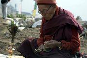 Culturele eco-trekking Helambu monnik