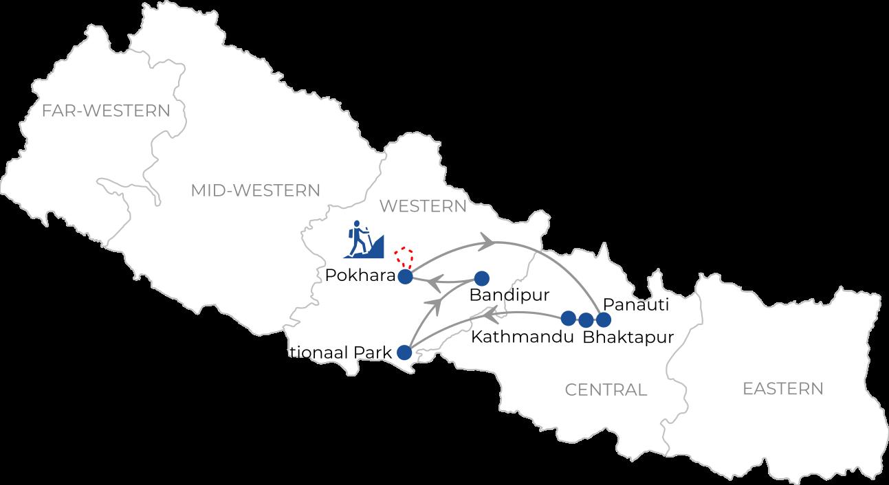 Familierondreis Hoogtepunten van Nepal met korte trekking