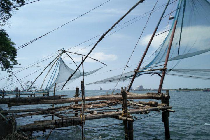 Chinese visnetten in Chochin Kerala