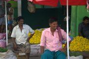 India Tamil Nadu Madurai Bloemenmarkt