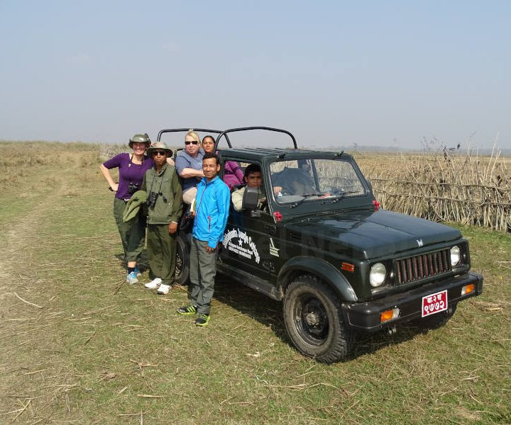 Jeep safari Shuklapanta Nationaal Park Nepal