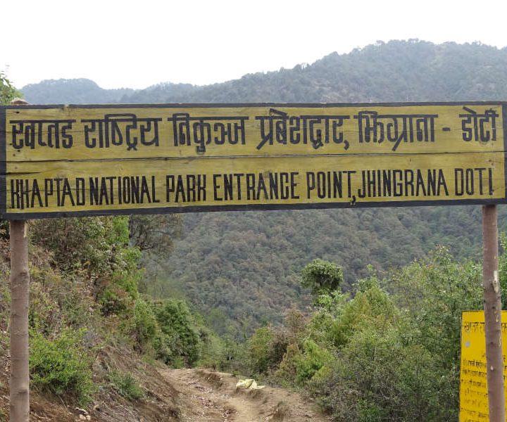 Entree Khaptad Nationaal Park