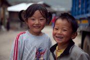 Kinderen in Bhumtang Bhutan