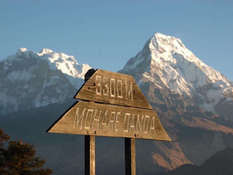 Uitzicht tijdens de Mohare Hill trekking
