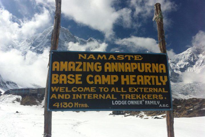Nepal - Annapurna - bord Annapurna Base Camp
