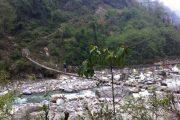 Nepal - Annapurna - hangbrug