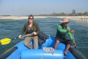 Nepal - Bardia Nationaal Park - raften op de rivier