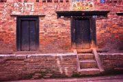 Nepal Bhaktapur straat muur