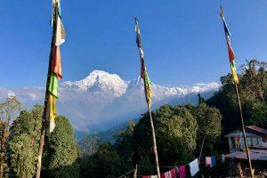 Nepal - Deurali - Uitzicht op Annapurna massief