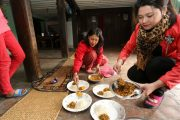 Lunch bij lokale familie in Patan