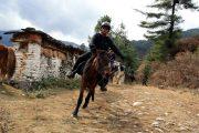 Paardrijden in de Tang Vallei Bhutan
