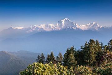 Panorama op de Annapurna