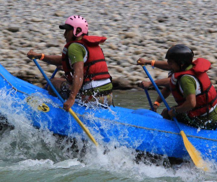 Raften op de Trisuli rivier - Nepal