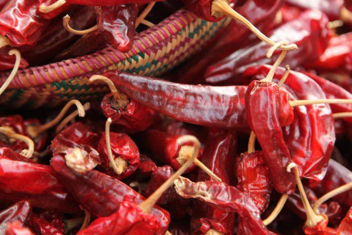 Rode chili's in Bhutan
