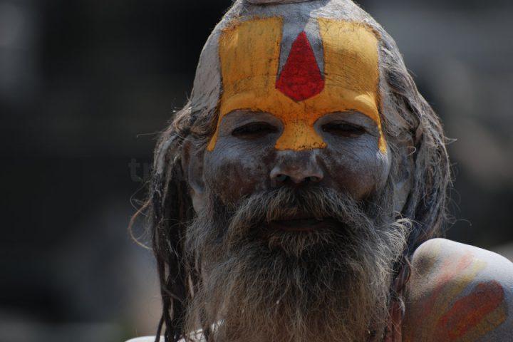 Een sadhu in Pashupatinath
