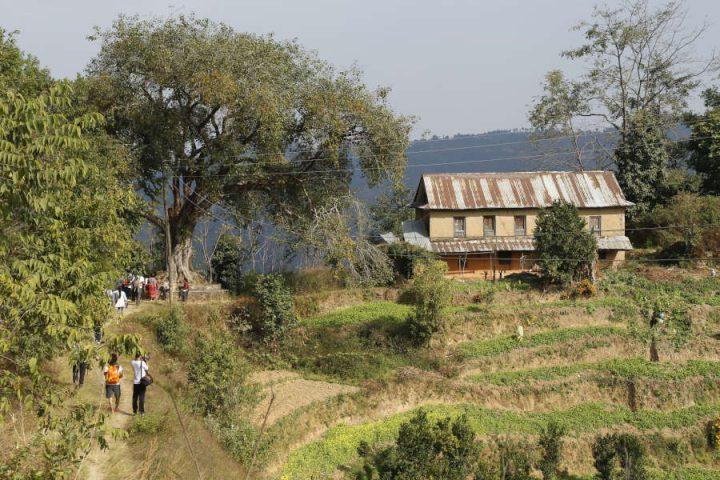 Wandeling Panauti naar Sanga