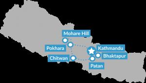 Reisroute Groepsreis Puur en authentiek Nepal met trekking