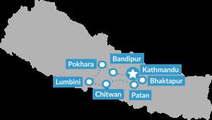 Reisroute Groepsreis Puur en authentiek Nepal zonder trekking