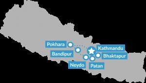 Reisroute Mindful Nepal