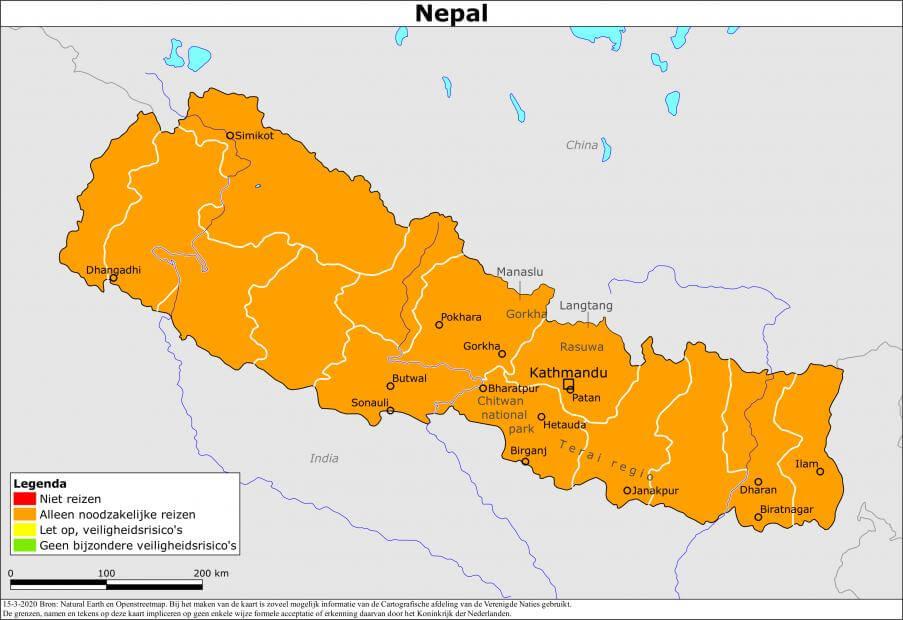 Reisadvies Nepal ministerie van Buitenlandse Zaken